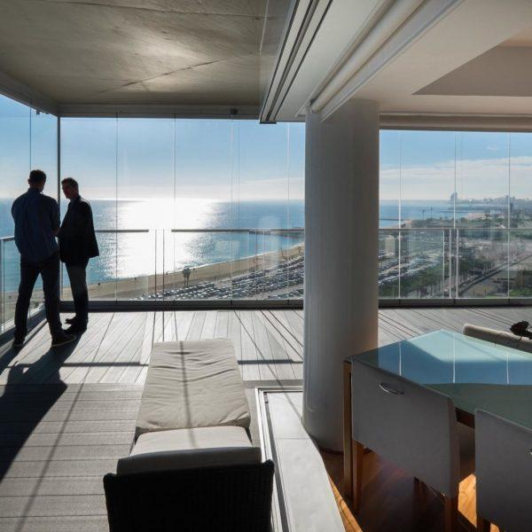 cristales para balcon vistas al mar