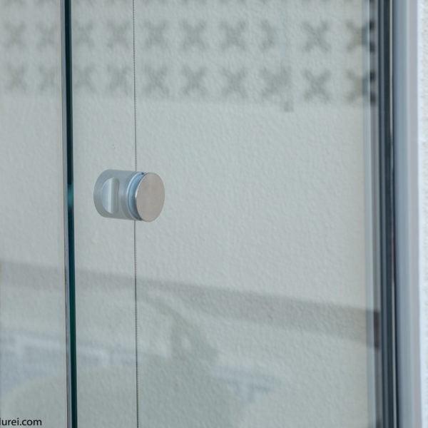 pomo de cierre de cortina de cristal