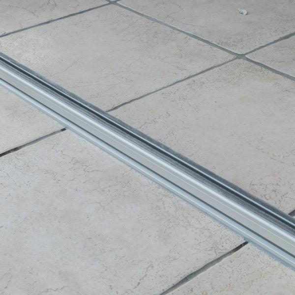 guia de suelo de cortina de cristal